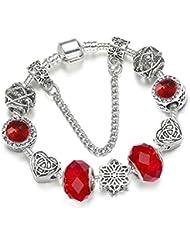 d4541102005a QWERST Bracelet Charm Bracelet Exclusivo Cristal Plateado Fino Brazalete  para Mujer Pulseras De Perlas Joyas