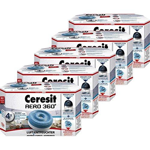 Henkel Ceresit Luft-Entfeuchter-Tabs AERO 360 Nachfüller 4x450g Tab (5er Pack)