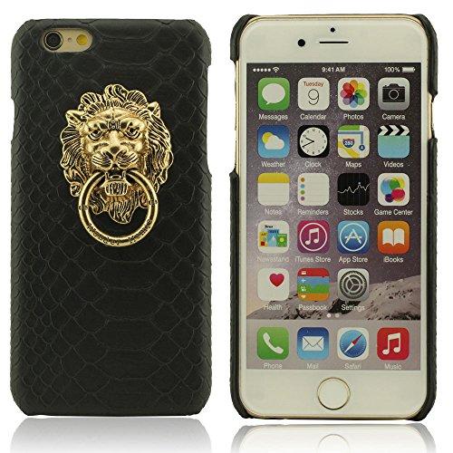 iPhone 7 Plus Coque de Protection, Métal Lion Tête Métal Bague Série Titulaire Désign Dur Plastique Mince Poids léger Housse de protection Case Cover pour Apple iPhone 7 Plus 5.5 inch noir