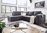 MASSIVMOEBEL24.DE Eckgarnitur Opal Slide Sofa mit Schlaffunktion Schwarzbraun