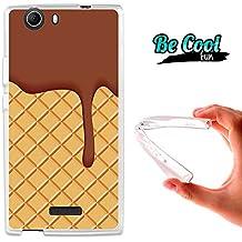 Becool® Fun - Funda Gel Flexible para Wiko Ridge 4G .Carcasa TPU fabricada con la mejor Silicona, protege y se adapta a la perfección a tu Smartphone y con nuestro diseño exclusivo Galleta y chocolate