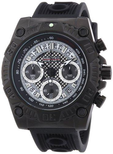 Nautec No Limit - TW QZ/IPIPBK - Montre Homme - Quartz Chronographe - Chronomètre - Bracelet Acier Inoxydable Plaqué Noir