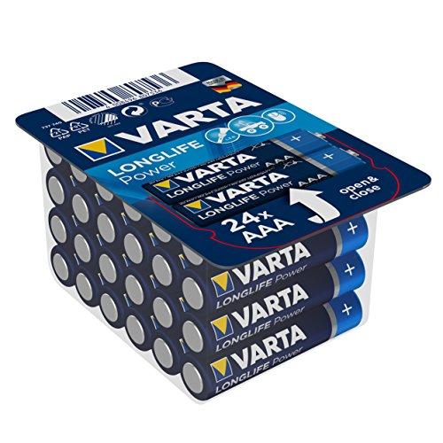 Varta Longlife Power Batterie AAA Micro Alkaline Batterien LR03 - 24er Pack (Design/Produktname kann abweichen)