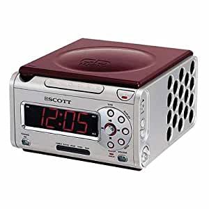 Scott CDX 600 LB Radio réveil digital CD Tuner analogique Double alarme 5 sons d'ambiance Réglage de l'intensité