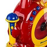 Roadstar KID-55CD Kinder CD-Spieler mit 2 Mikrofonen und Karaoke-Funktion (tragbar, Batterie-Betrieb, Kopfhörer-Anschluss, 10 Watt Musikleistung) - 5