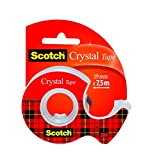 Scotch Crystal Clear Nastro Adesivo 3M, Super-Trasparente in Chiocciola