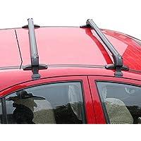 Alluminio Aero barre portapacchi chiudibile Barra Anti furto da auto a Guide da tetto, colore: nero - Nero Cargo Box