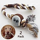 2PACK (braun) Pet Dog Puppy Überwurf Ball Spielzeug Tennis Gymnastikball mit großen Spielen Tauspielzeug Kauen Fetch Bite