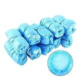 100pcs copertura di slittamento del pattino Ultra Spesso monouso Anti Per la casa coperta di pulizia di protezione, rosa / blu ( Colore : Blue )