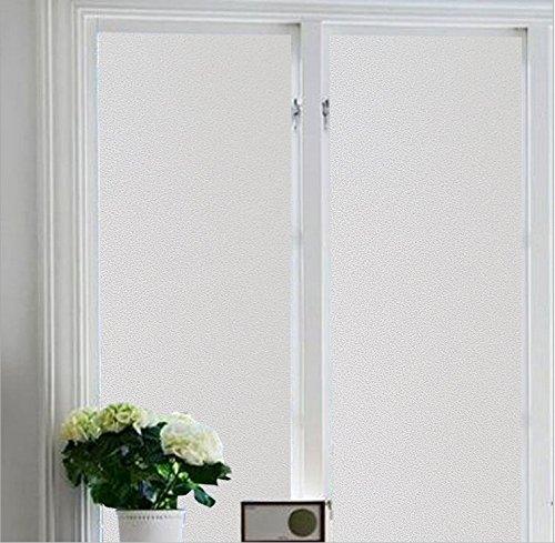 Do4U Fensterfolie, Displayschutzfolie zum Aufkleben, deckend, 100% durchscheinend, Vinyl-Aufkleber ohne Gelkleber, leicht zu entfernen, weiß, 45 x 200 cm - Vinyl Weiss Jalousie