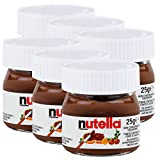 6x Ferrero Nutella World Glas Brotaufstrich Schokolade 25g