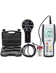 ERAY Anemómetro Profesional, Medidor de Velocidad de Viento y la Temperatura con LCD Pantalla Retroiluminada
