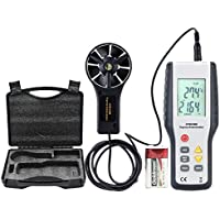 ERAY Digital Anemometer Wind Speed Gauge Professional Air Velocity Flow Volume Meter with Backlight LCD Display, High accuracy and sensitivity, Suitcase and Battery Included