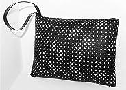 Pochette borsa in Ecopelle nera Charlize - fatto a mano Made in Italy - Handmade - Regali donna - Artigianale