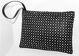 Pochette borsa in Ecopelle nera Charlize - fatto a mano Made in Italy - Handmade - Regali donna - Artigianale - idee regali originali - regali di natale - regali per lei regali di San Valentino