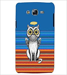 PrintDhaba Meowl D-3518 Back Case Cover for SAMSUNG GALAXY ON 7 (Multi-Coloured)