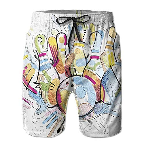 khgkhgfkgfk Color Bowling Mans Summer Short Pants Large - Lycra Bootie