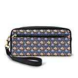 Package: 1 Pencil BagWhat the most important feature is itssuper large capacity, this will let you put a lot in. For ladies , you can use it as pencil bag, also a makeup cosmetic bag. Having one, just be get ready for travel.Type: pencil bag, pen hol...