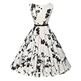 Damen Kleid Vintage Frauen Vintage Florale Bodycon Sleeveless Lässige Abend Party Prom Swing Dress Von Pany