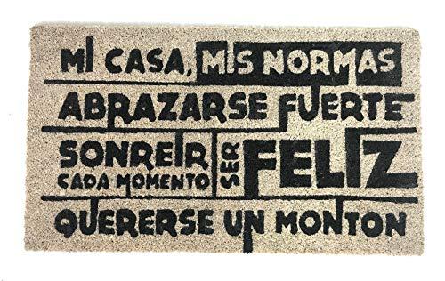 De'Carpet Felpudo Coco Entrada Casa Original Moderno Mi Casa Mis Norma