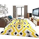 Rutschfester Vintage Teppich im Wohnzimmer Teppich, Krabbeldecke, Home-Matte, Fitness-Yoga-Matte, Moderner Europäischer Minimalistischer Stil, Geometrisches Muster, Wohnzimmer-Schlafzimmer, Balkon-Sof