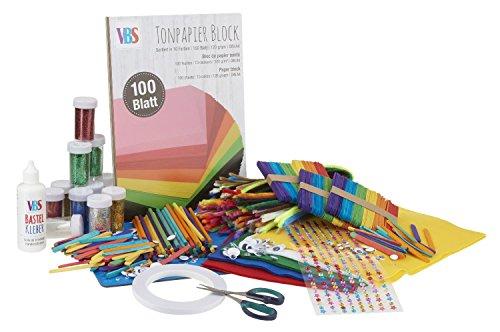 VBS Bastelmaterial-Set Hobby-Box Basic 918-tlg. Bastelbox XXL DIY basteln