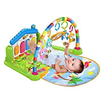 Surreal ( SM  3 in 1 Baby Play Mat And Activity Gym With Piano - Music and Lights - Green | Suitable From Birth