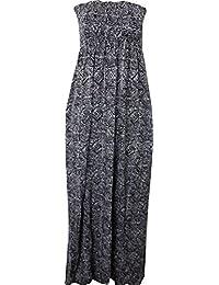 Neue Frauen Plus Size Printed Tropical Summer Blumenstrand Sheering Boob Maxikleid 36-54