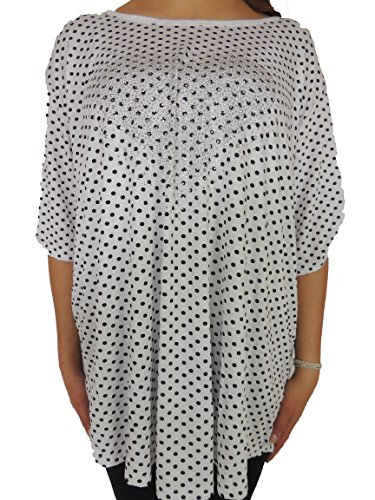 Verschiedene Farben Damen Blusen zur Auswahl Größe 48, 50, 52, 54, 56 Weiß