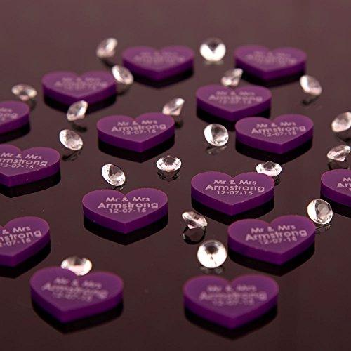 Amazing 100 Purple Acrylic Wedding Table Decorations Part 11