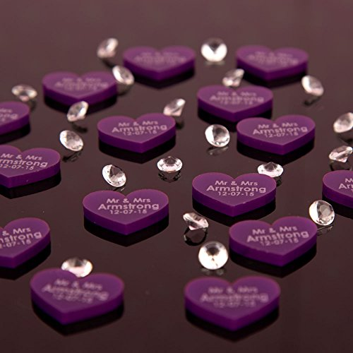 Exceptionnel 100 Purple Acrylic Wedding Table Decorations