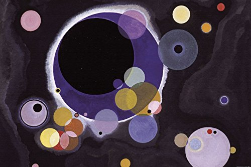 Wassily Kandinsky - Alcuni Cerchi, 1926 Carta da Parati Adesiva (180 x 120cm)