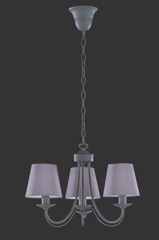 Trio Leuchten 110600578Cortez a + + to e, Corona, Metallo, E14, betonfarbig