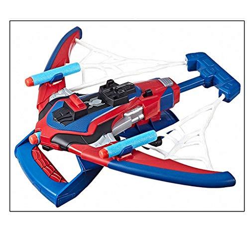 Spider Kleid Web Kostüm - HYYSH Außergewöhnliche Spider-Man Kinder Cos Requisiten 2 In 1 Spinning Water Spider Silk Handschuhe Launcher Toy Set (Design : B)
