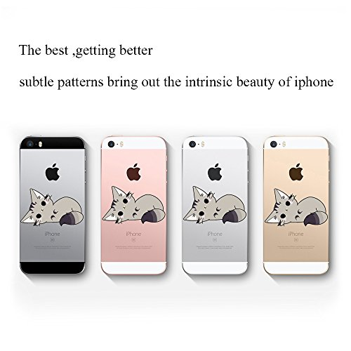 Custodia iPhone SE 5S Cover, JEPER Flessibile Ultra Thin Slim Crystal Clear Trasparente Premium TPU Silicone Gel Assorbimento Urto Anti-Scratch Case per Apple iPhone 5 07