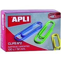Apli 11723 Caja Clips, Multicolor, 32 Mm