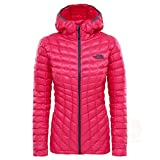 The North Face Water Resistant Thermoball Women's Outdoor Hooded Jacket available in Petticoat Pink - Large