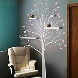 """De vinilo árbol decorativo de los árboles y ramas de madera de la pared con citas de pared casa-arte-de la decoración, vinilo, D, 96""""hx68""""w"""