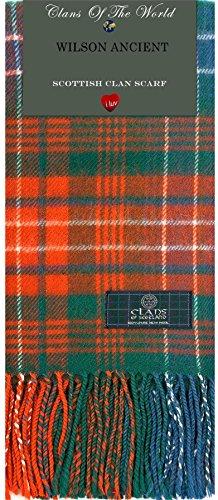 I Luv LTD Wilson Ancient Tartan Clan Scarf 100% Soft Lambswool Tartan Lambswool Scarf