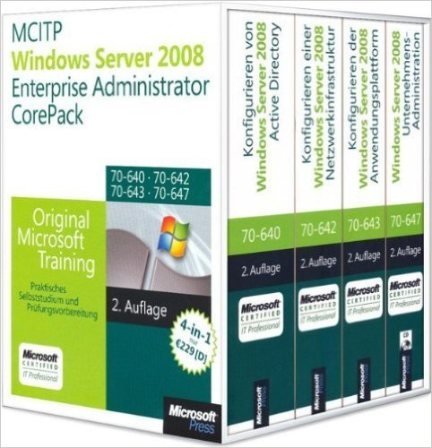 MCITP Windows Server 2008 Enterprise Administrator CorePack - Original Microsoft Training fŸr...