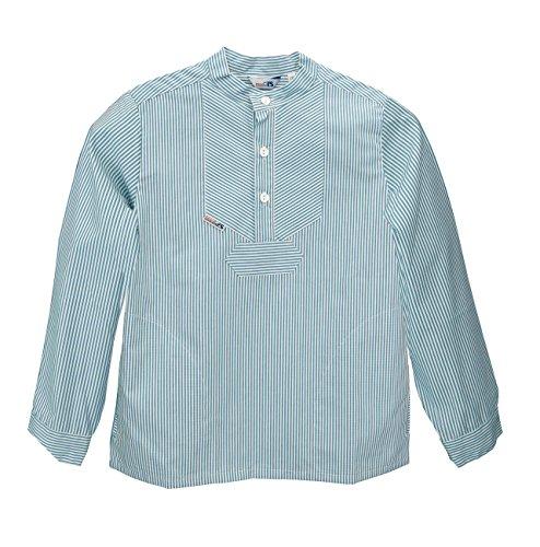 AS Bekleidungswerk GmbH Modas Sommer Kinder Fischerhemd Langarm, Größe:104, Farbe:Azur/weiß