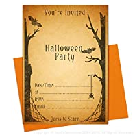 Vintage Style Halloween Party Invitations (Blank/Write On) JC0931