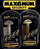 """MAX6MUM SECURITY Euro Door Thumbturn Cylinder - Kitemarked, Anti-Snap, Anti-Pick, Anti-Bump, Anti-Drill and Anti-Plug Pull - High Security Door Lock - Secured by Design Police Approved - Available in a range of sizes in both Brass and Nickel (Thumbturn on the """"T"""" Side) (Brass, 40T/55 (95mm))"""