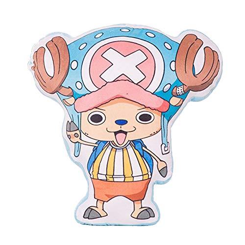 Saicowordist One Piece Anime Kreative Charaktere Geformte Kissen Plüschtier Niedlichen Cartoon einseitig Druck Kissen Sofa Lendenkissen Anime Fans Geschenk(Chopper)