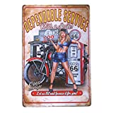 DL- Servicio de gas Metal Sign garaje Signs para hombre Pin Up Póster antiguo bandeja café decoración de la pared