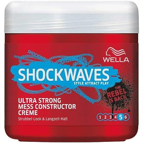 Wella ondas de choque de energía Mess Constructor ultra fuerte, 3er Paquete (3 x 150 ml)