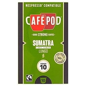 Choose CafePod Origins Sumatra Nespresso Compatible Capsules 10 per pack from CafePod