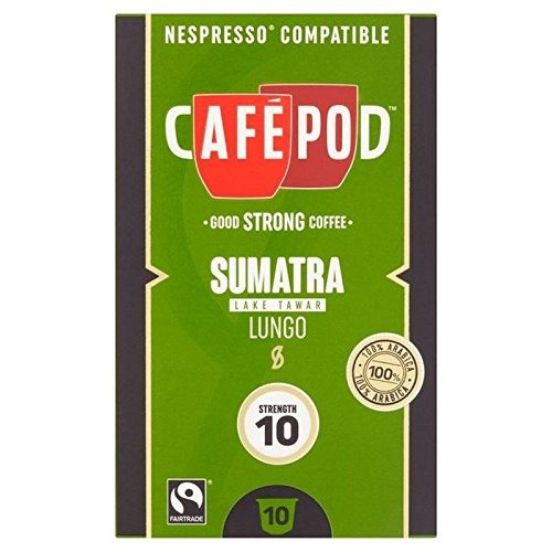 Choose CafePod Origins Sumatra Nespresso Compatible Capsules 10 per pack from CafePod