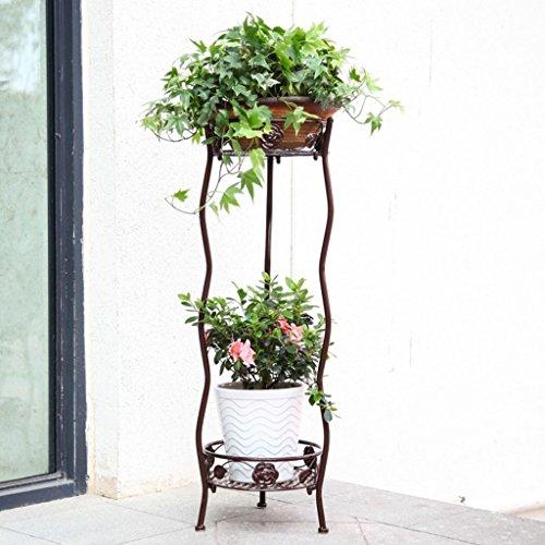 Étagère Multifonction en Fer forgé pour Plantes d'extérieur et d'extérieur - Multifonction - pour intérieur et extérieur - pour Balcon, Salon - Échelle de Cerise Verte