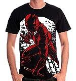 Daredevil - T-shirt uomo Fight Full Size Marvel cotone nero - S
